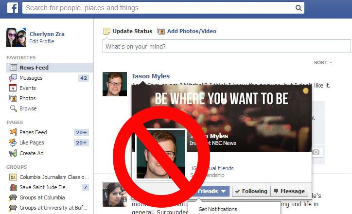 Find facebook friends via whatsapp