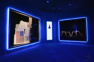 Space Shuttle Challenger Wreckage on Display
