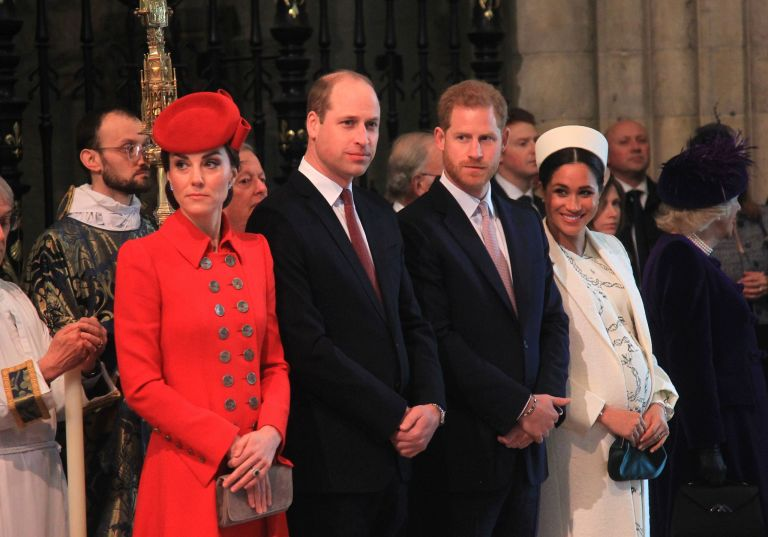 Meghan and Harry, William and Catherine