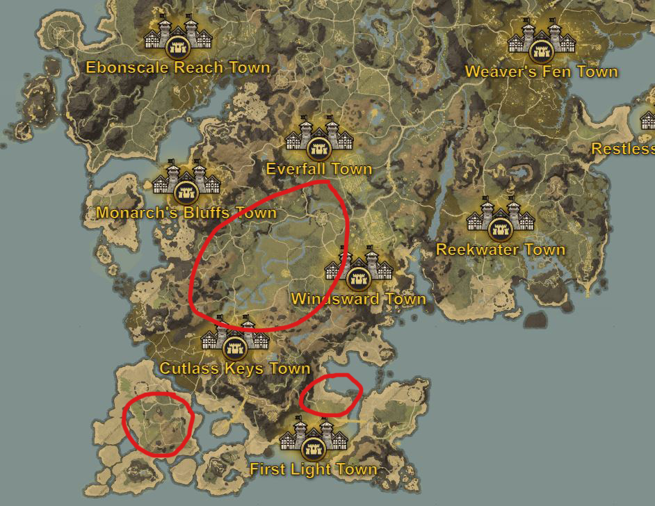 New World hemp locations