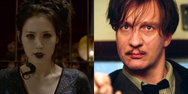 Nagini and Lupin side by side
