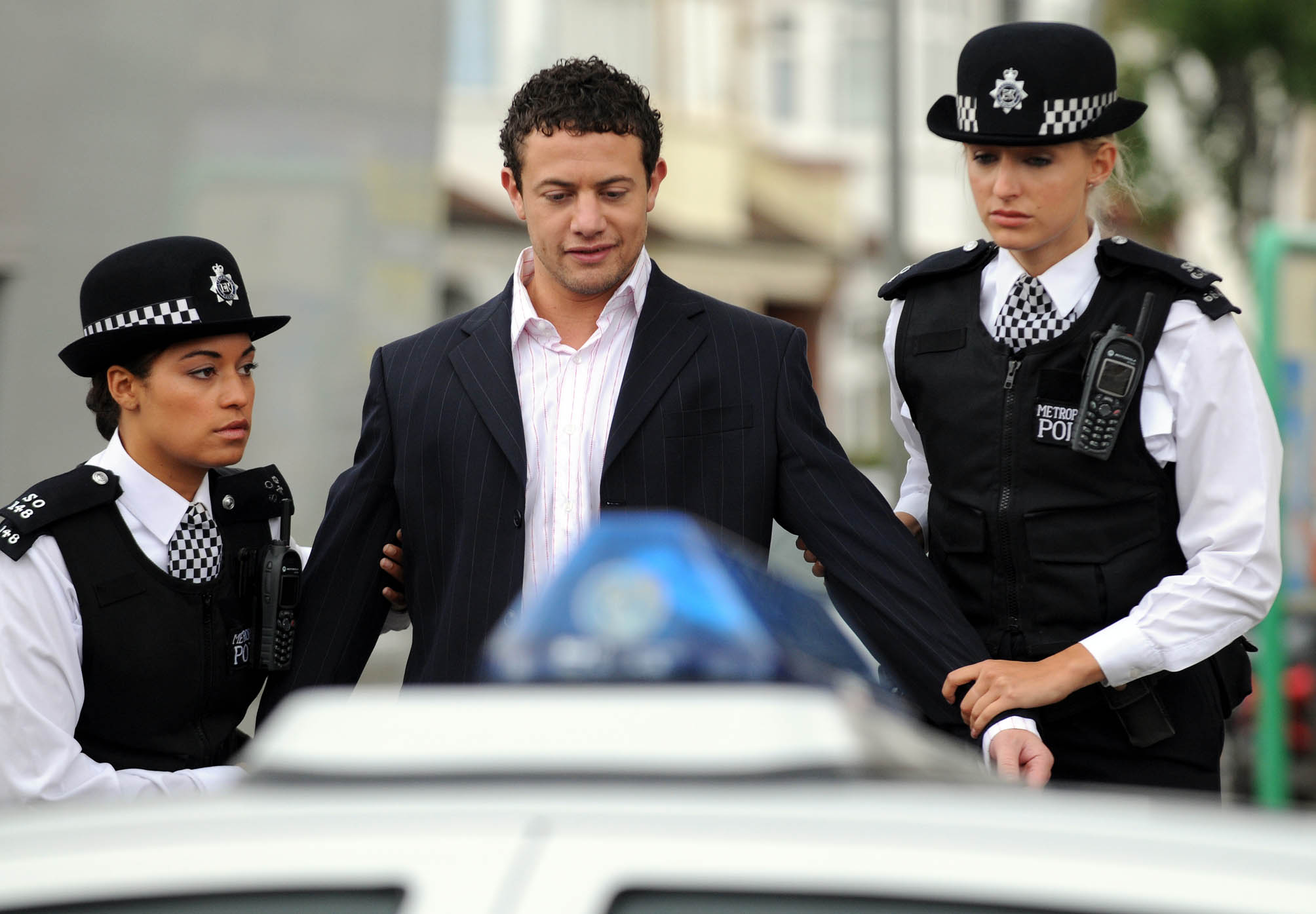 Drug pusher Jake is arrested