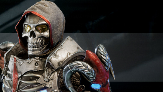 An armoured skeleton knight, from Halo