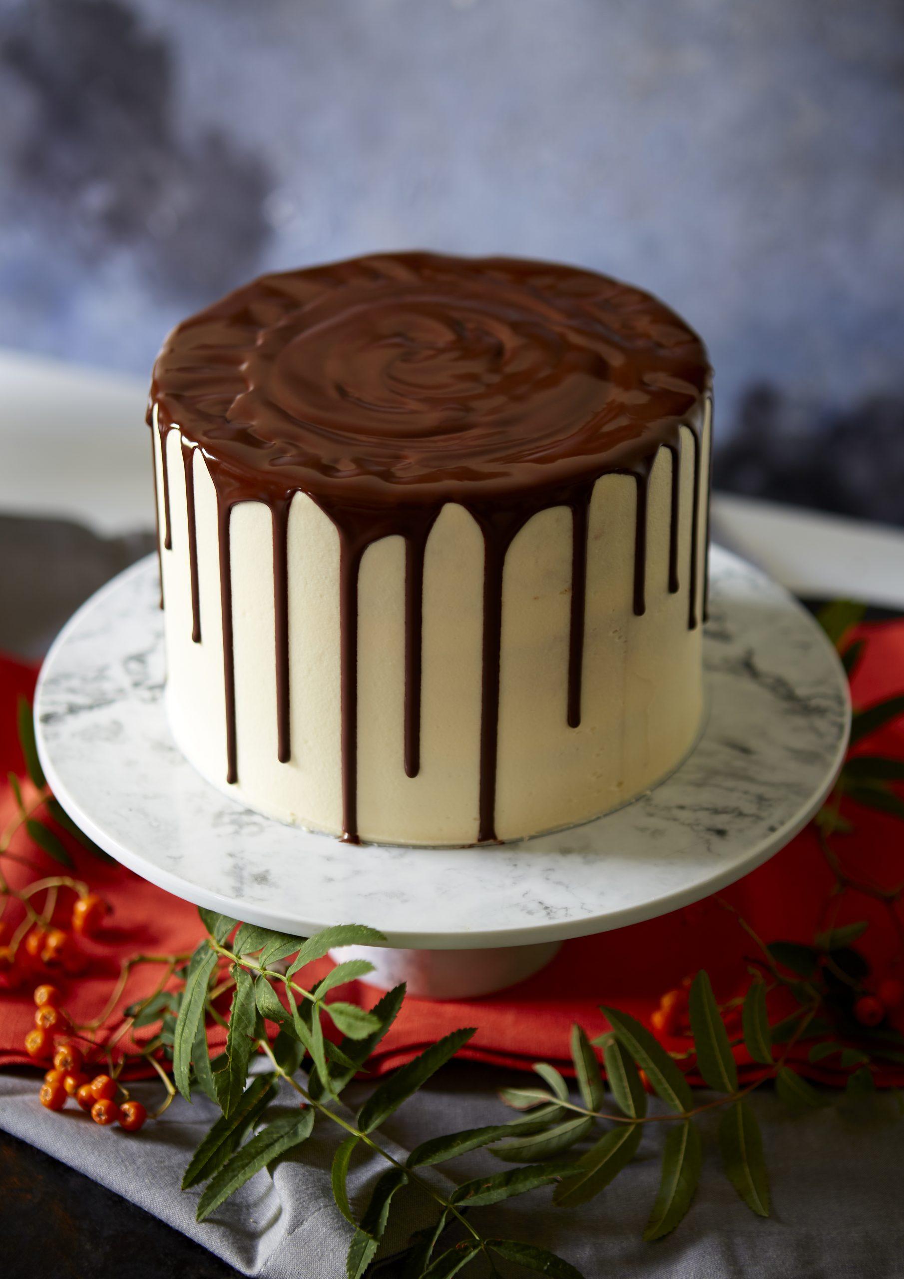 Cool Chocolate Vanilla Drip Cake Dessert Recipes Womanhome Personalised Birthday Cards Veneteletsinfo