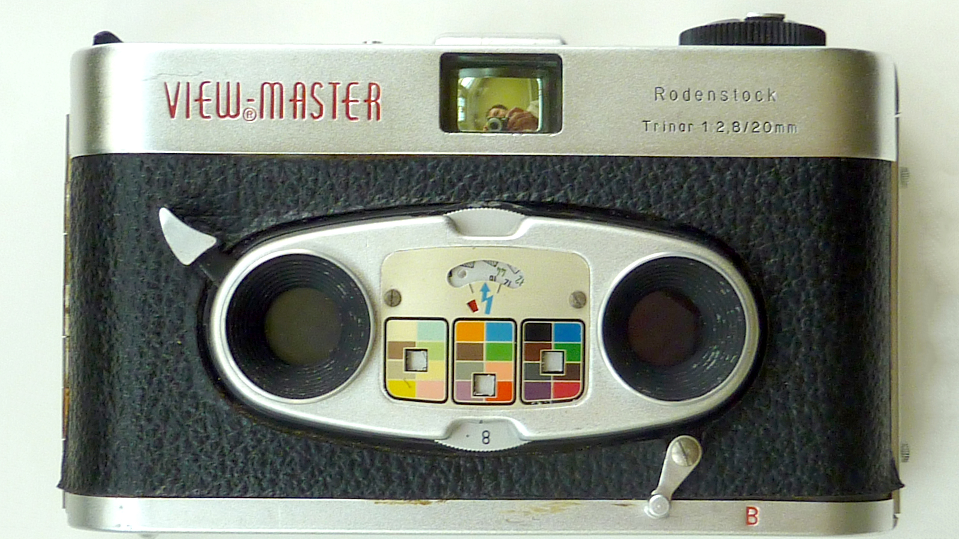 The front of the Viewmaster Stereo camera