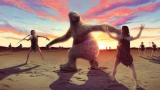 Giant Ground Sloth illustration