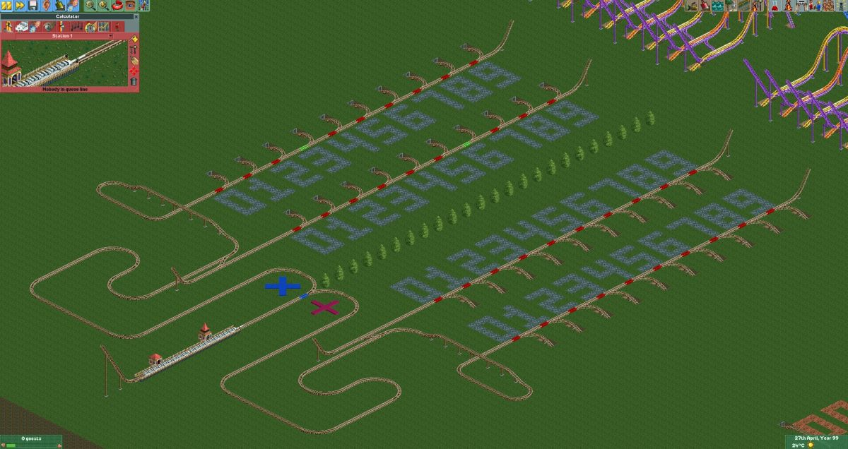 Check out this coaster calcuator built in Rollercoaster Tycoon 2
