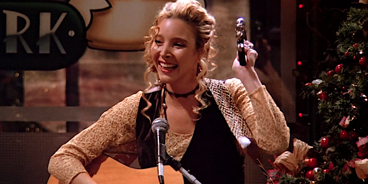 Friends Phoebe performs at Central Perk