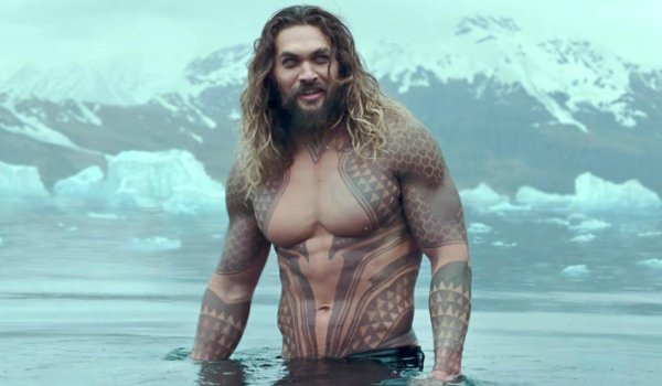 Justice League Aquaman stands in the waters of Iceland