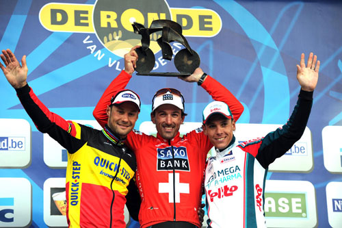Boonen, Cancellara, Gilbert, Tour of Flanders 2010