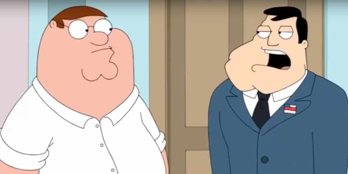 Peter Griffin and Stan Smith on Family