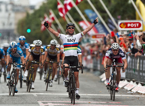 Mark Cavendish wins stage six Tour of Denmark 2012
