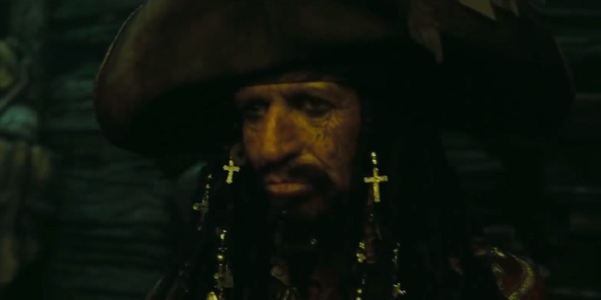 Keith Richards in Pirates of the Caribbean at World's End