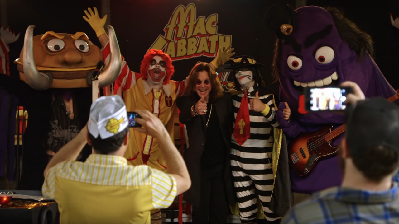 Ozzy meeting fast-food Black Sabbath parody band is as ridiculous as you'd imagine