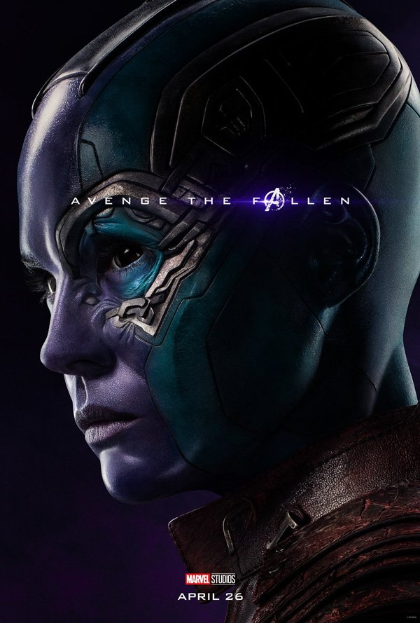 """Nebula looking """"blue"""" in Avengers: Endgame official poster"""