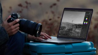 Apple MacBook Air M1 being used by a photographer