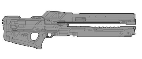 Halo 4 Weapon Schematic Reveals New Railgun - CINEMABLEND Rail Gun Schematic on