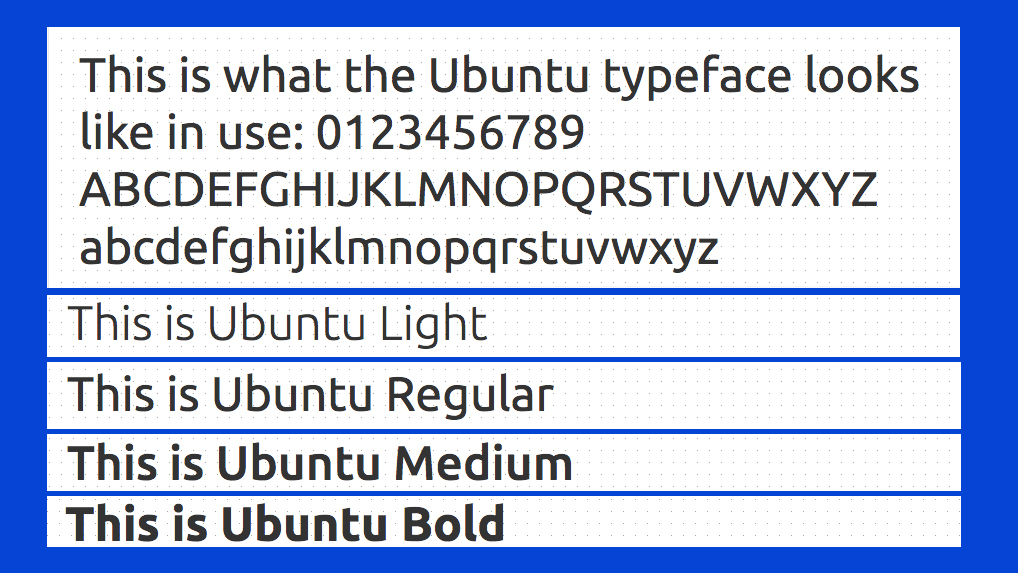 Best free fonts: Ubuntu