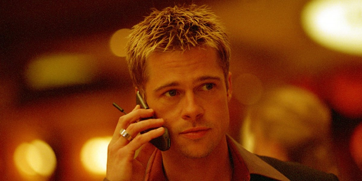 Brad Pitt in Ocean's Eleven