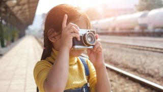 Best cameras for kids: Girl with camera
