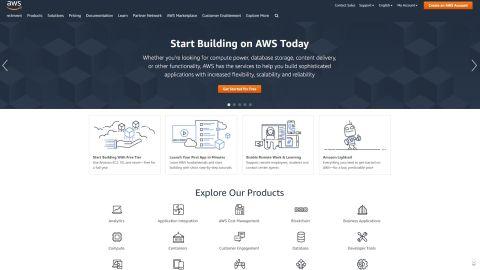Amazon Web Services' homepage