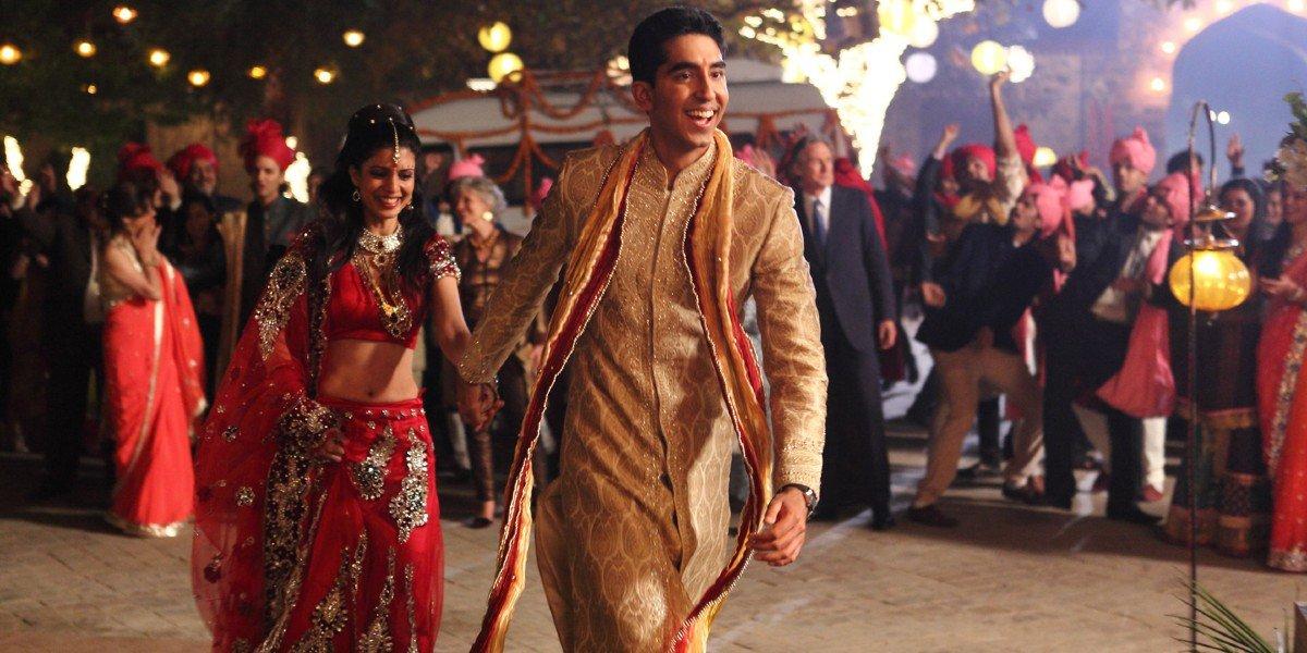 Tina Desai and Dev Patel in The Best Exotic Marigold Hotel