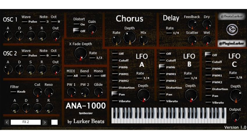ana 1000 is a free analogue style vst synth that 39 s simple and effective musicradar. Black Bedroom Furniture Sets. Home Design Ideas