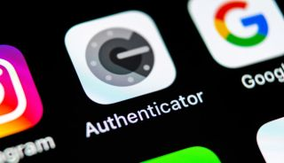 The Google Authenticator app icon on an iPhone screen.