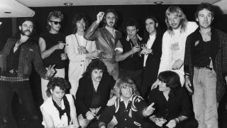 Guests at Status Quo's farewell party in 1984