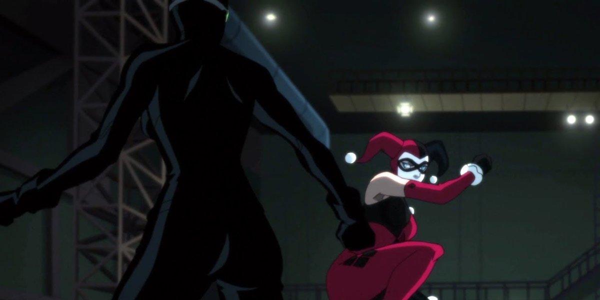 Jennifer Morrison as Catwoman and Hynden Walch as Harley Quinn in Batman: Hush