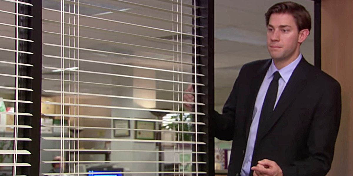 Jim asking Pam out on their first date on The Office.