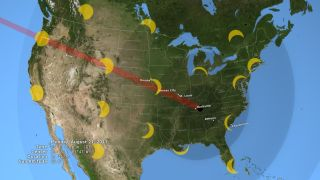 Great American Solar Eclipse of 2017 Map