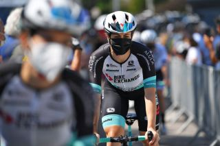 MORTEGLIANO ITALY JULY 09 Grace Brown of Australia and Team BikeExchange at start during the 32nd Giro dItalia Internazionale Femminile 2021 Stage 8 a 1294km stage from San Vendemiano to Mortegliano GiroDonne UCIWWT on July 09 2021 in Mortegliano Italy Photo by Luc ClaessenGetty Images
