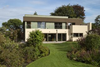 exterior of a modern eco self build home in Wales
