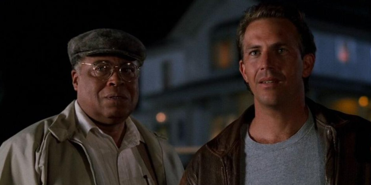 James Earl Jones and Kevin Costner in Field of Dreams