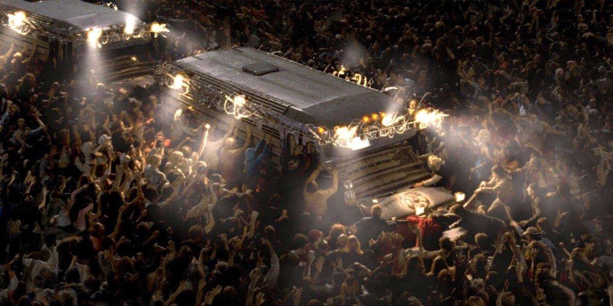 The escape scene from Dawn of the Dead (2004)