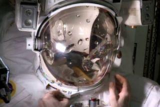Spacesuit Helmet Water Leak Test