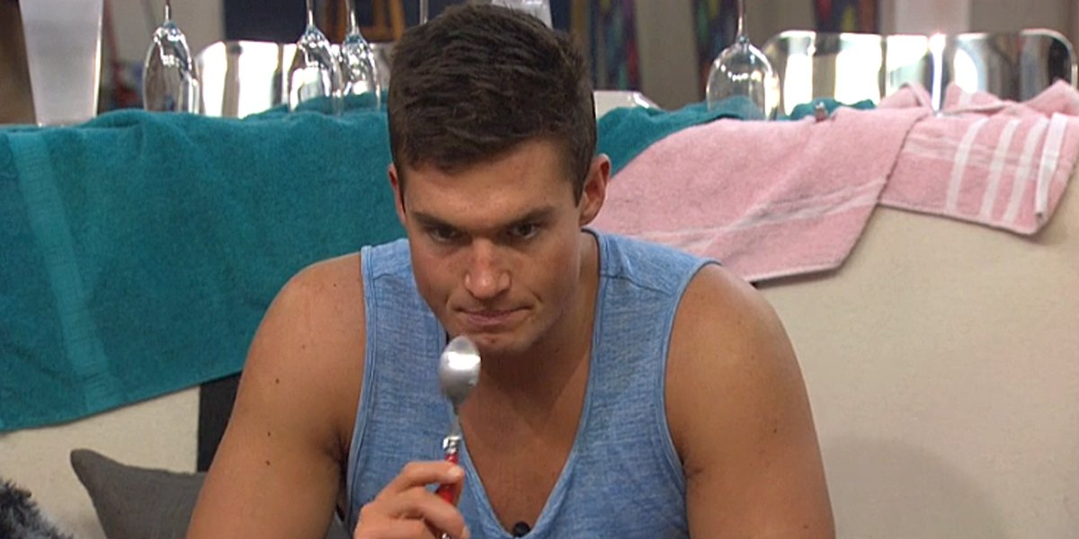 Big Brother 21 Jackson Michie eating with spoon CBS