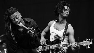 Living Colour perform live on stage at Pinkpop festival in Landgraaf, Netherlands on May 20 1991