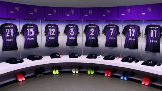 The dressing room for Football Manager FC.
