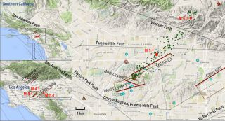 earthquake faults in la area