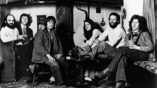 Fairport Convention sitting in a country pub