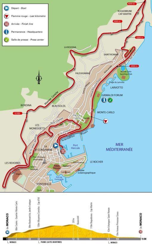 Tour de France 2009 depart map