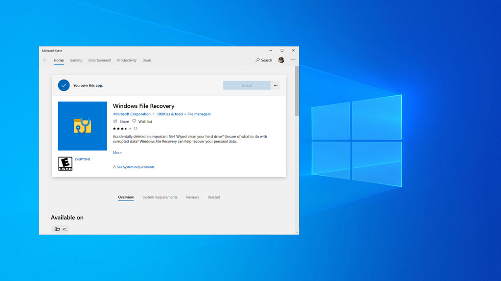 Microsoft Quietly Released Its Own Undelete Utility For Windows 10 Pc Gamer