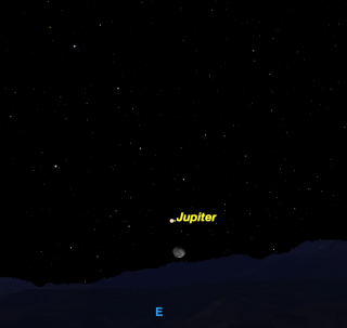 Moon and Jupiter, Jan. 27, 2016