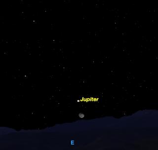 Moon and Jupiter, Jan. 27, 2016