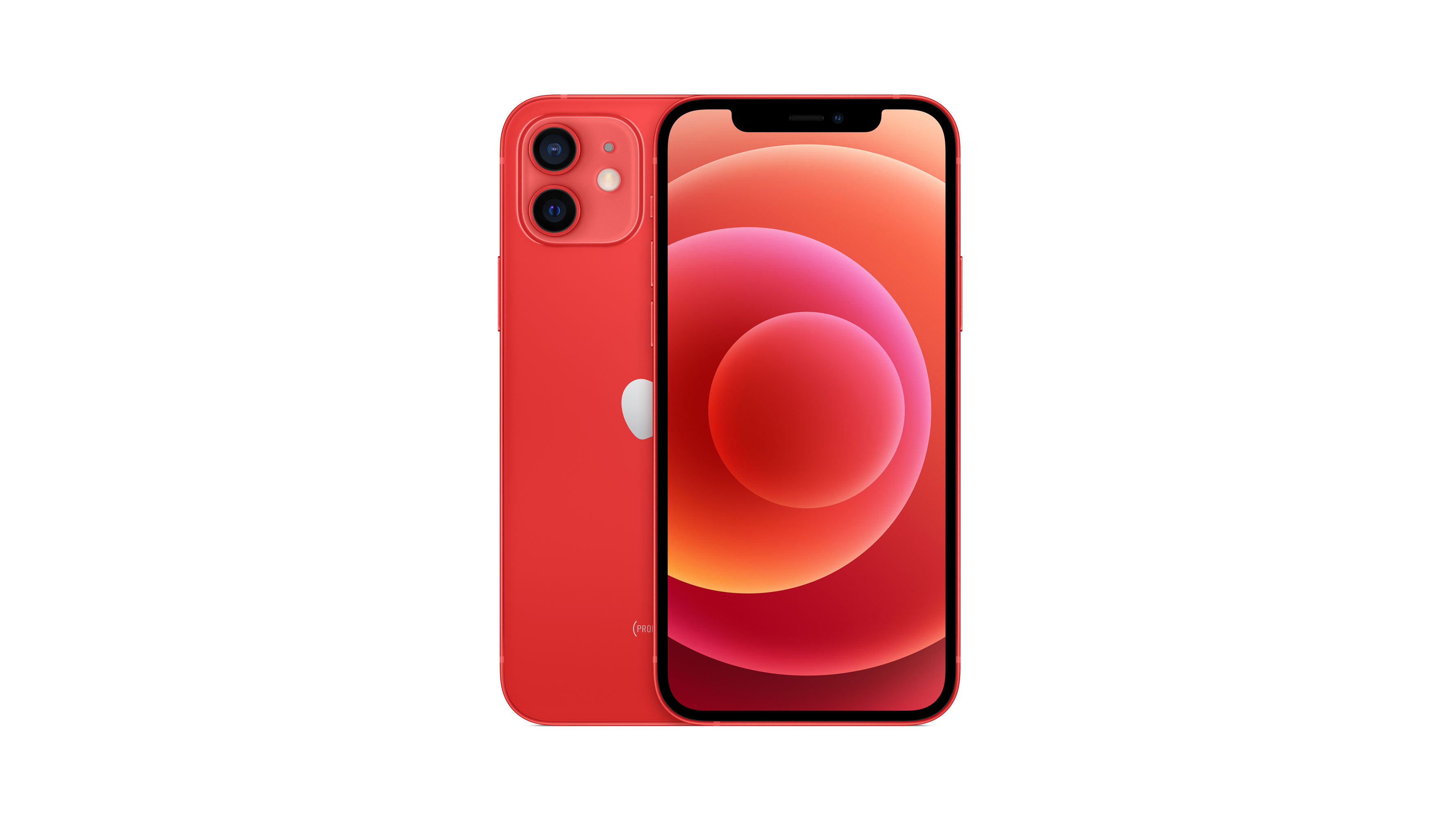 iPhone 12 in red
