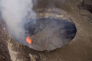 Lava lake at Mount Kilauea