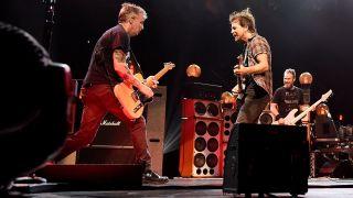 Mike McCready and Eddie Vedder