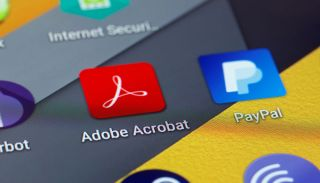 The icon of the Adobe Acrobat app on a smartphone screen.